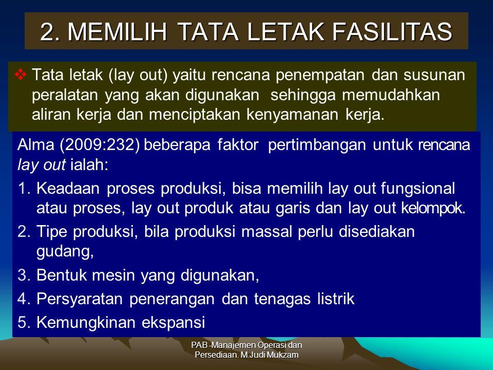 2. MEMILIH TATA LETAK FASILITAS