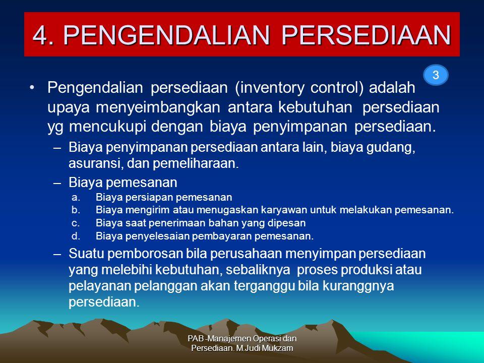 4. PENGENDALIAN PERSEDIAAN