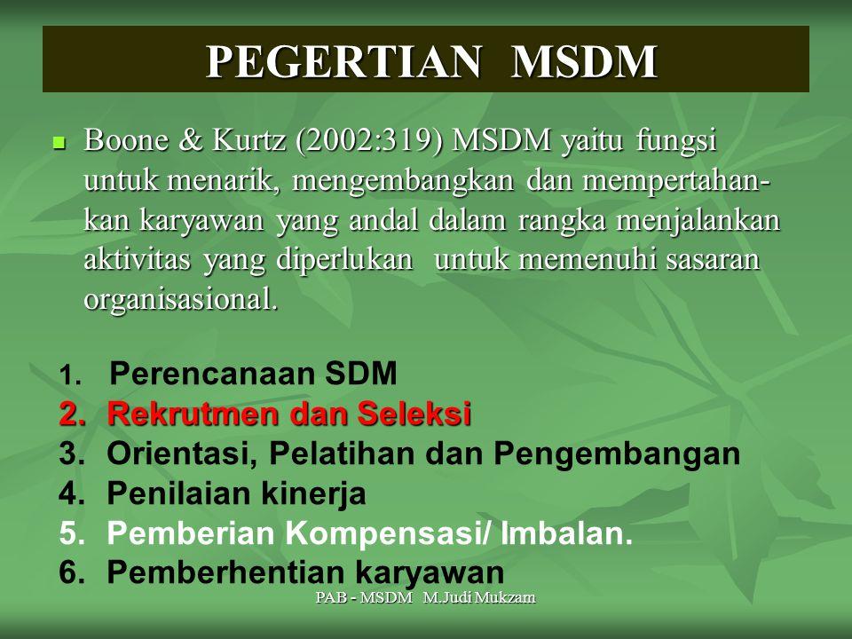 PEGERTIAN MSDM