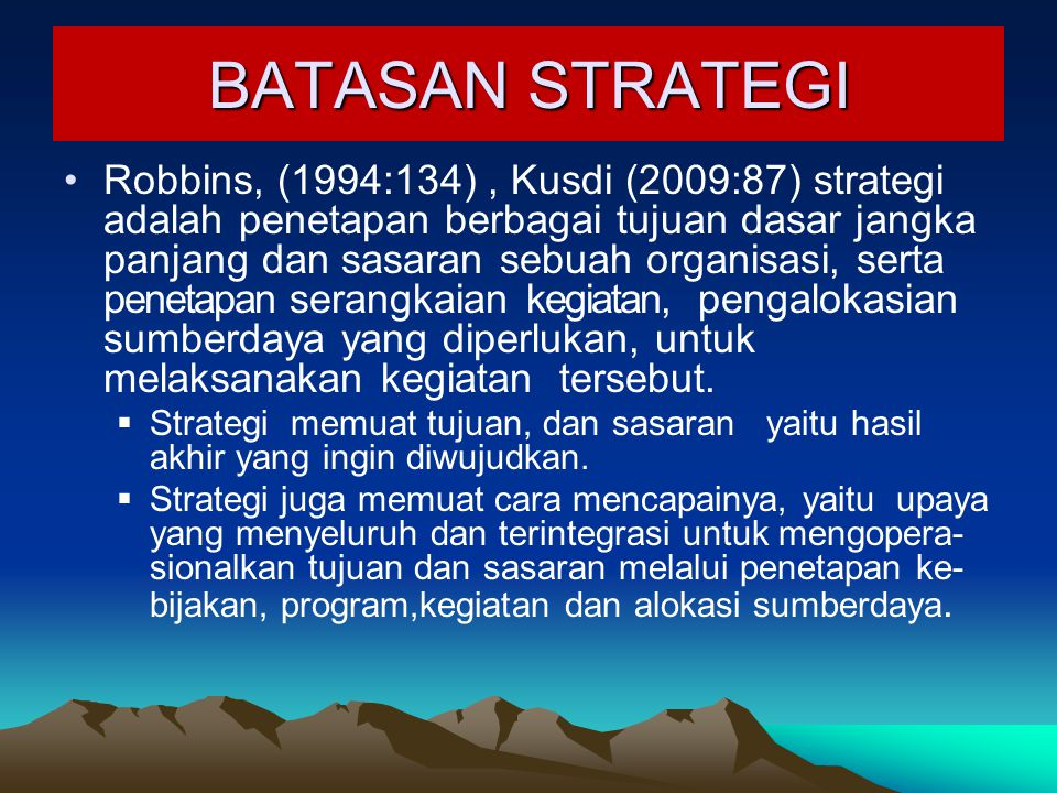 BATASAN STRATEGI