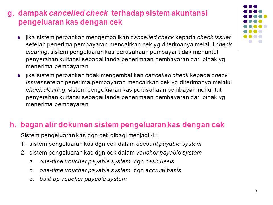 h. bagan alir dokumen sistem pengeluaran kas dengan cek