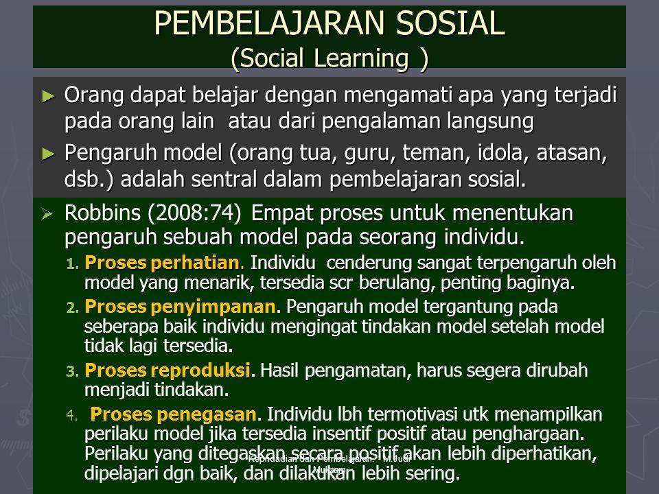 PEMBELAJARAN SOSIAL (Social Learning )