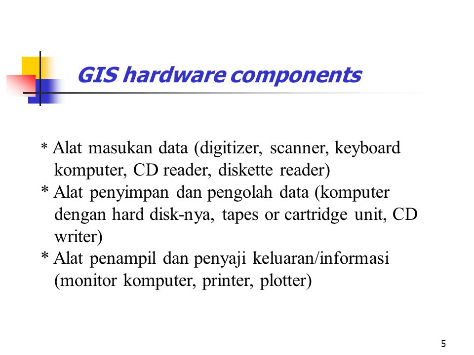 GIS hardware components