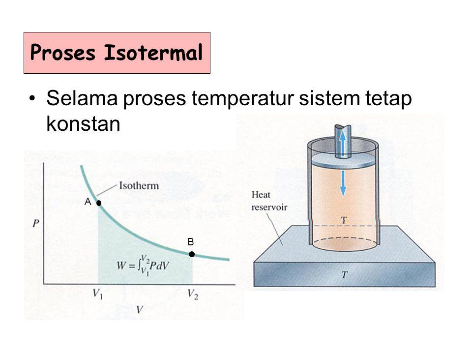 Selama proses temperatur sistem tetap konstan