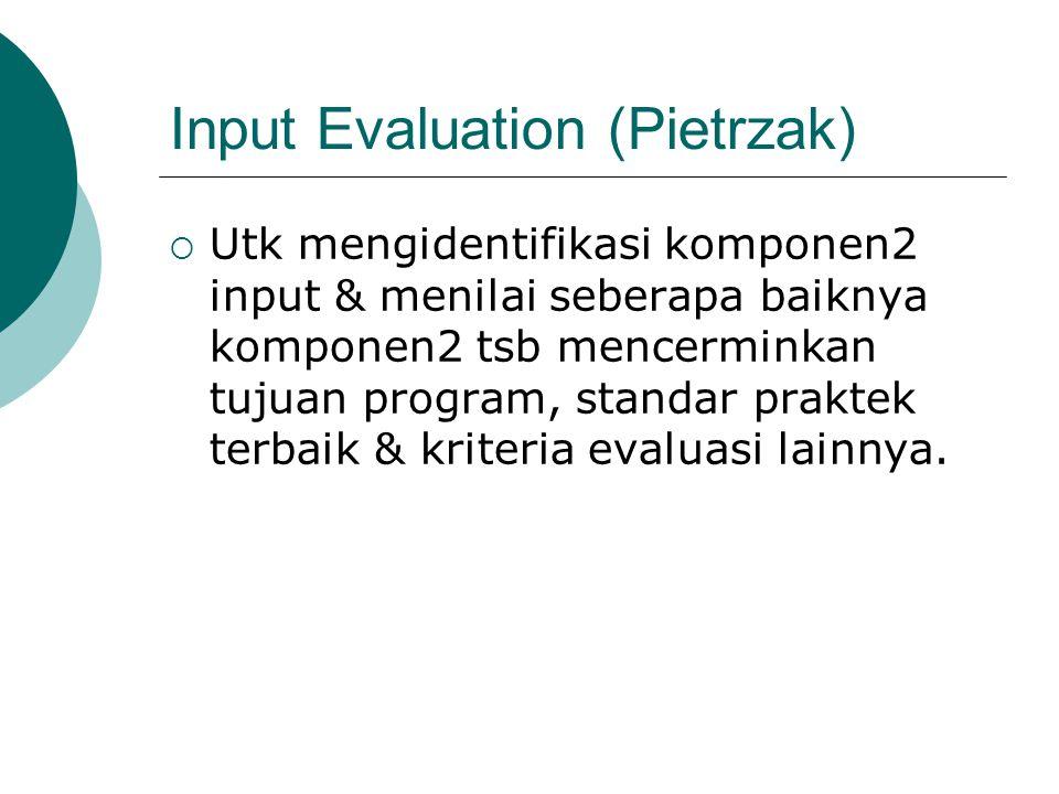 Input Evaluation (Pietrzak)