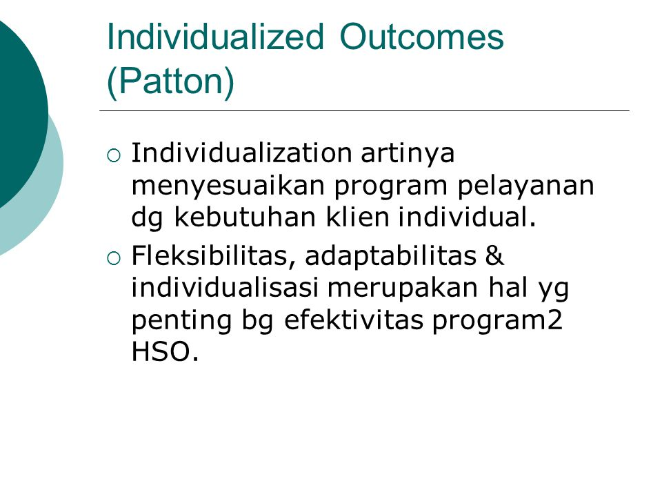 Individualized Outcomes (Patton)