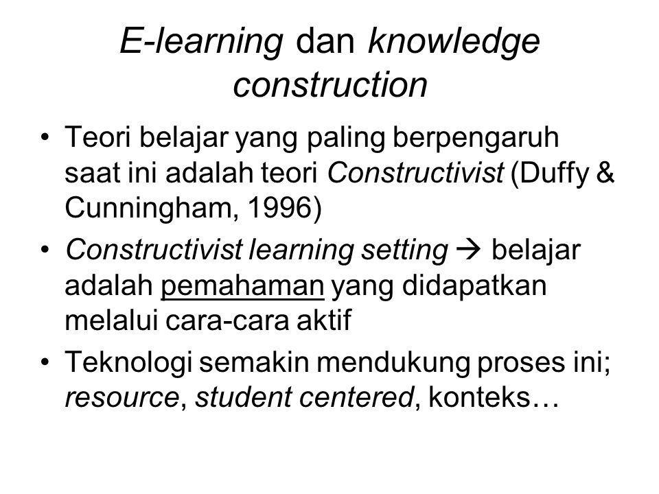 E-learning dan knowledge construction