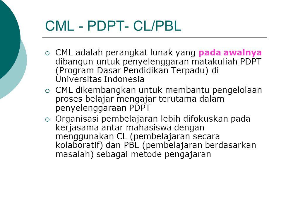 CML - PDPT- CL/PBL