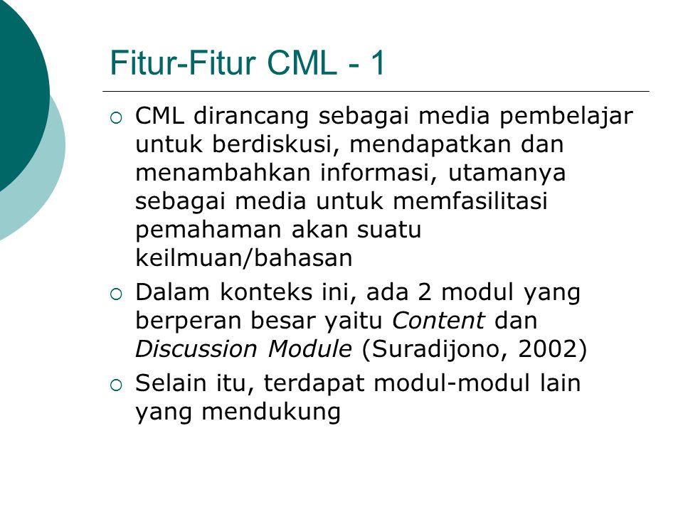 Fitur-Fitur CML - 1