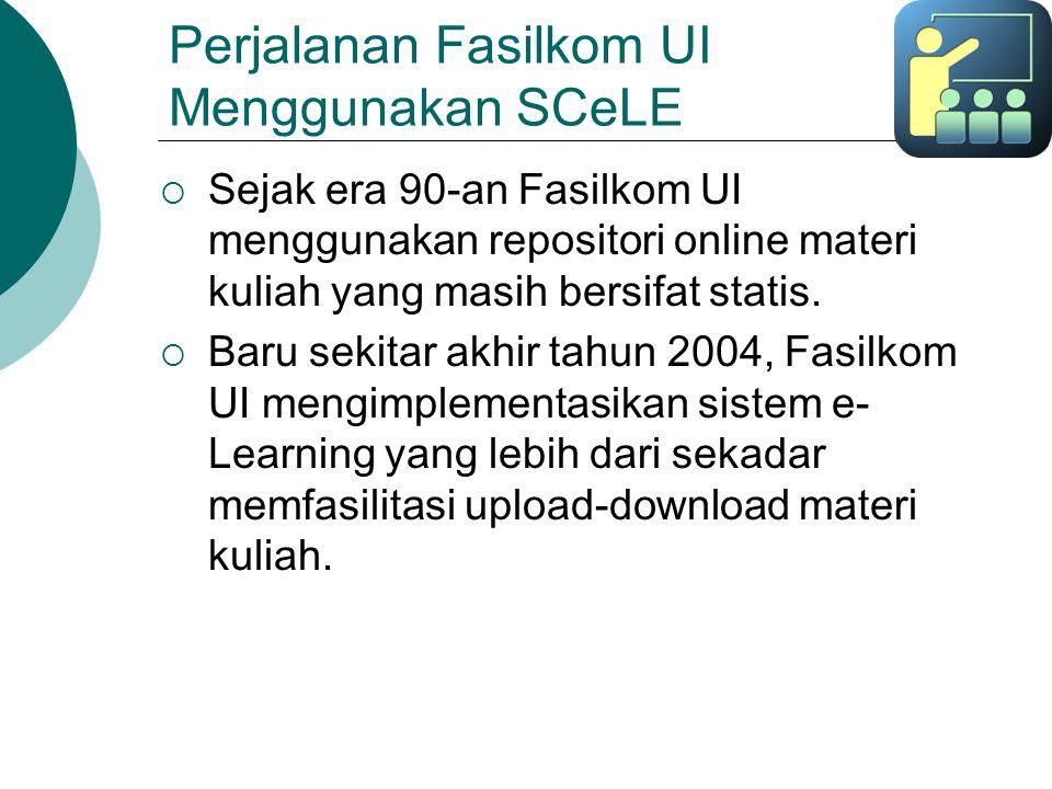 Perjalanan Fasilkom UI Menggunakan SCeLE