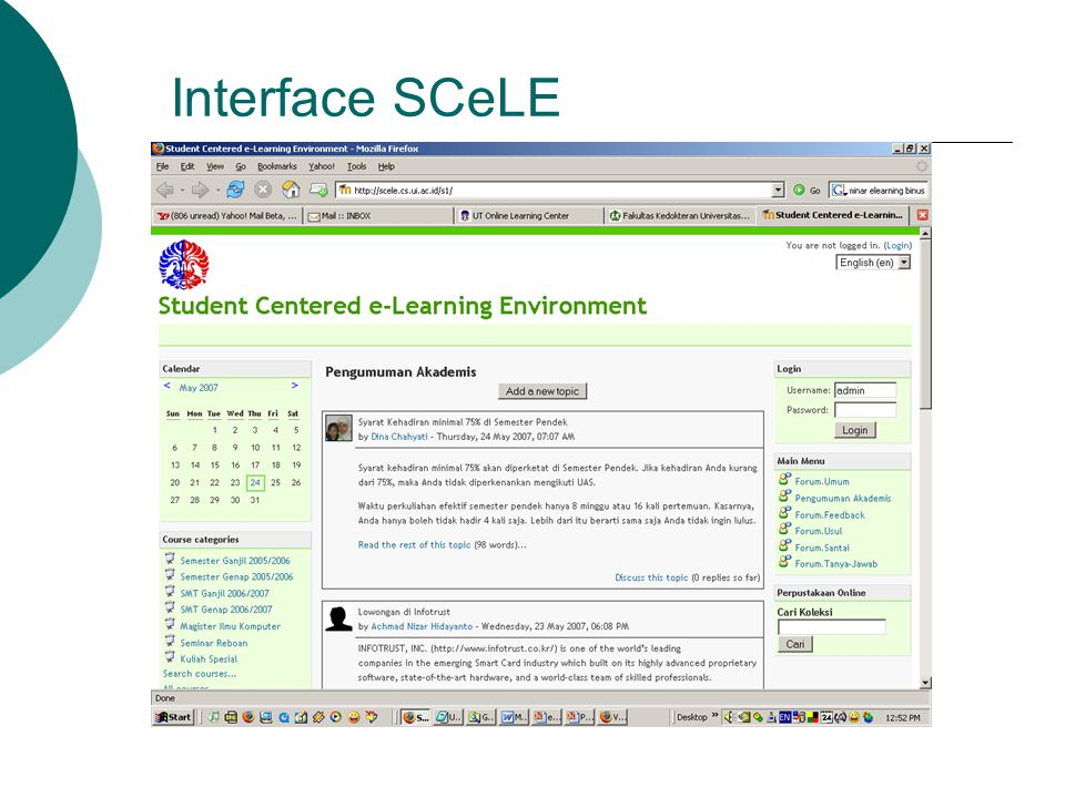 Interface SCeLE