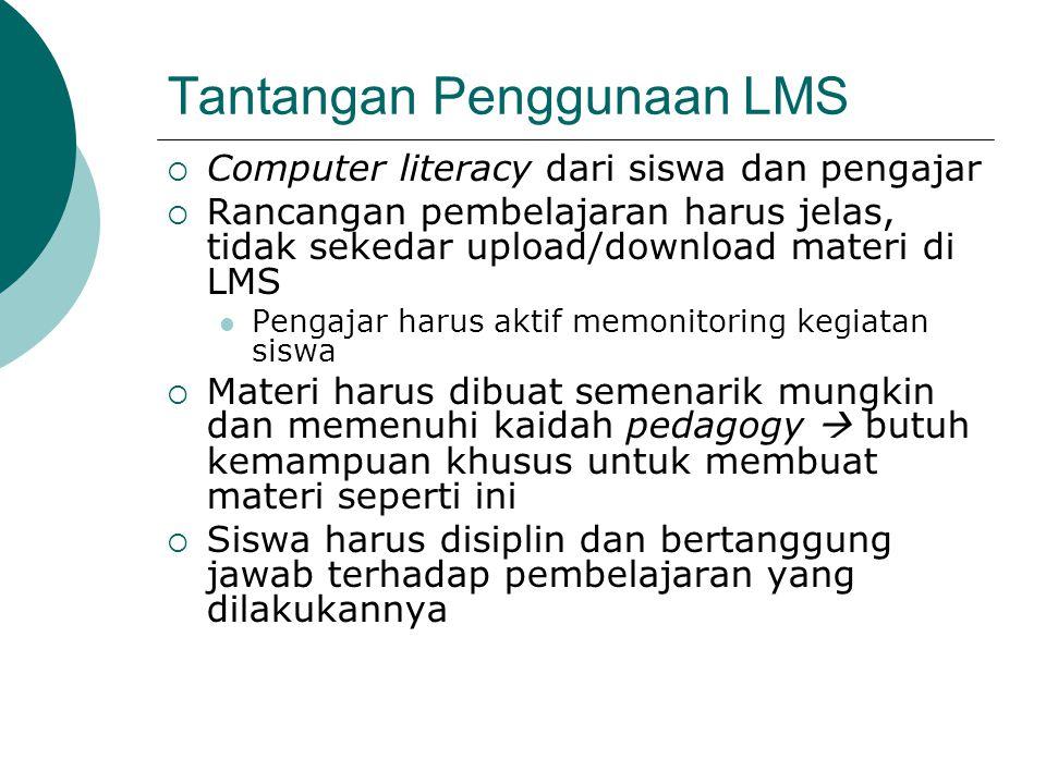 Tantangan Penggunaan LMS