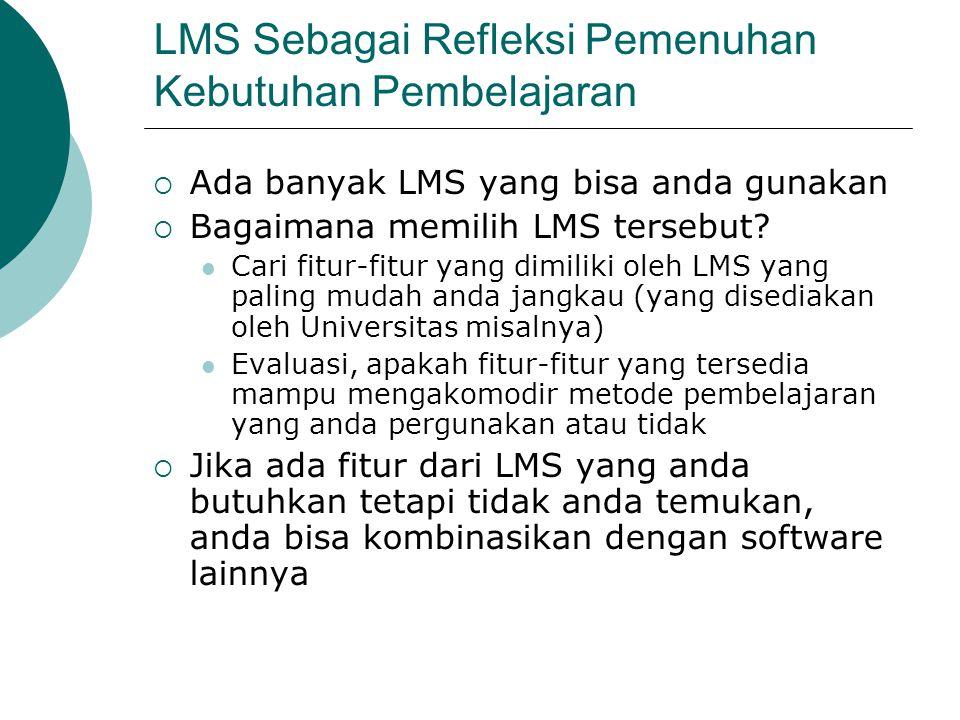 LMS Sebagai Refleksi Pemenuhan Kebutuhan Pembelajaran