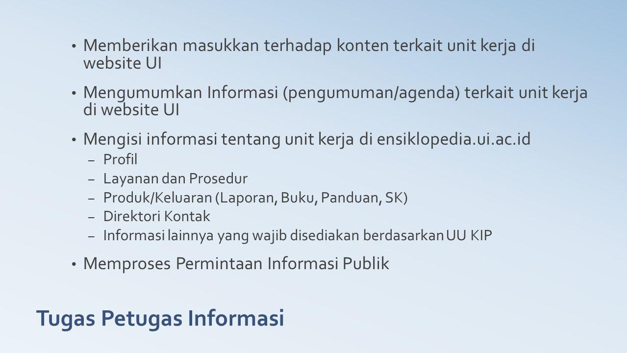 Tugas Petugas Informasi