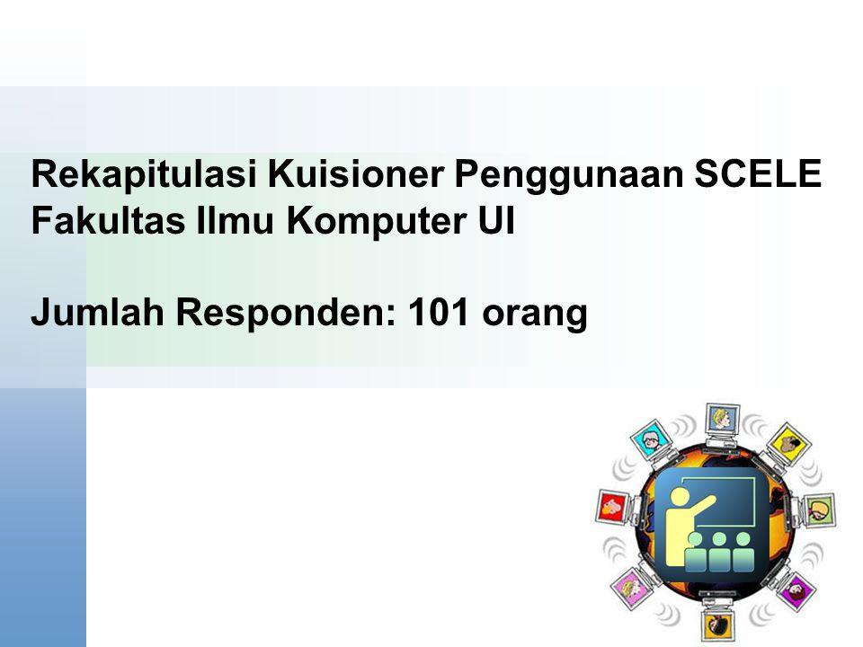 Content Starter Set Rekapitulasi Kuisioner Penggunaan SCELE Fakultas Ilmu Komputer UI Jumlah Responden: 101 orang.