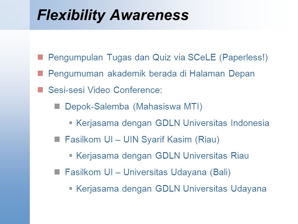 Flexibility Awareness