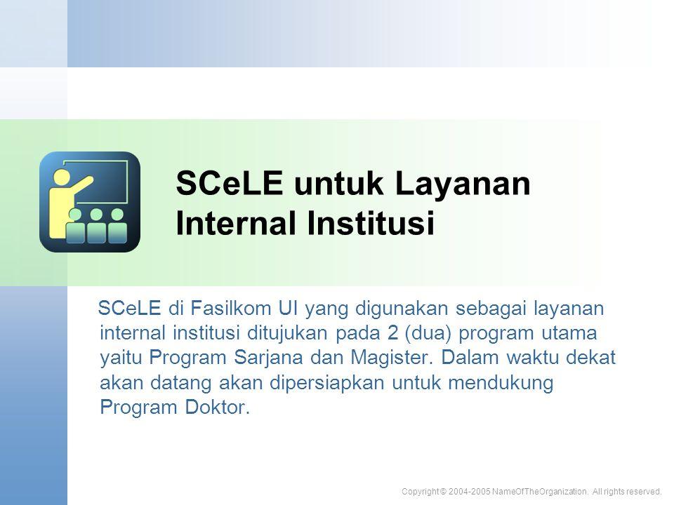SCeLE untuk Layanan Internal Institusi
