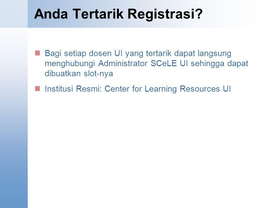 Anda Tertarik Registrasi