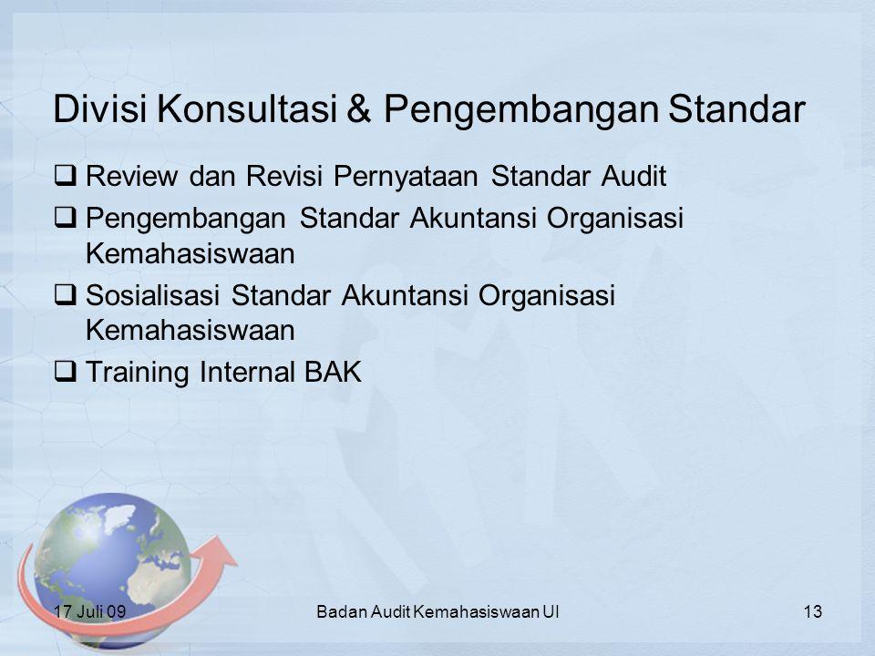 Divisi Konsultasi & Pengembangan Standar