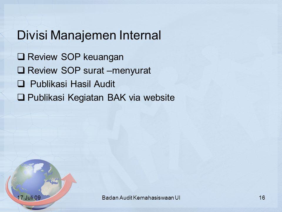 Divisi Manajemen Internal