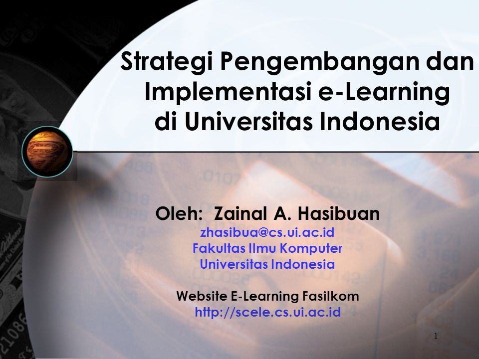 Strategi Pengembangan dan Implementasi e-Learning di Universitas Indonesia