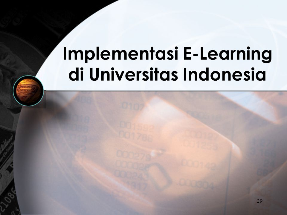 Implementasi E-Learning di Universitas Indonesia