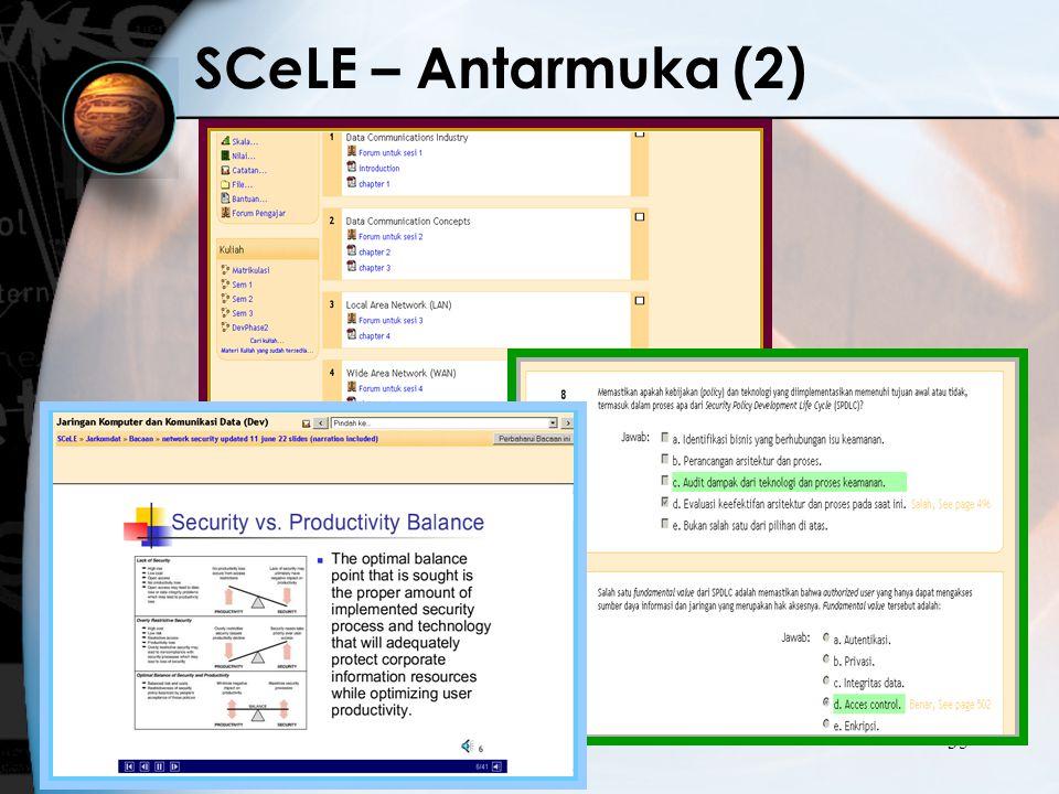 SCeLE – Antarmuka (2)