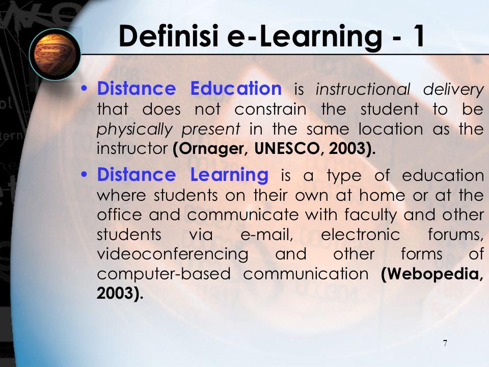 Definisi e-Learning - 1