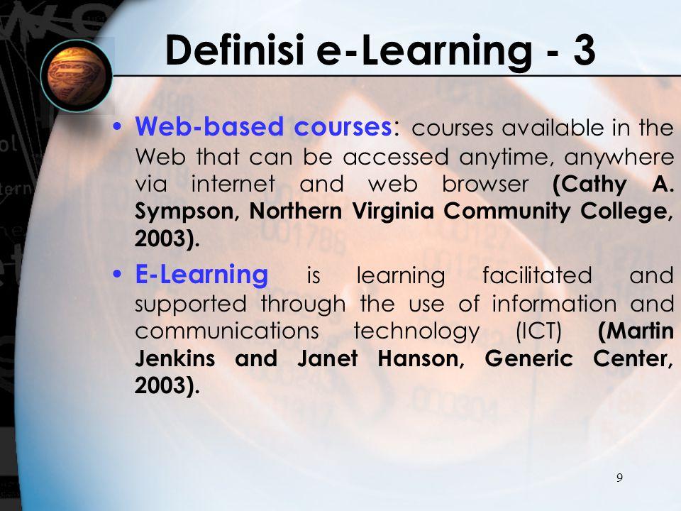 Definisi e-Learning - 3