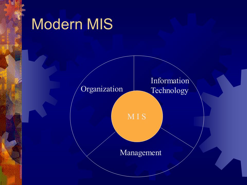 Modern MIS Information Technology Organization M I S Management 5