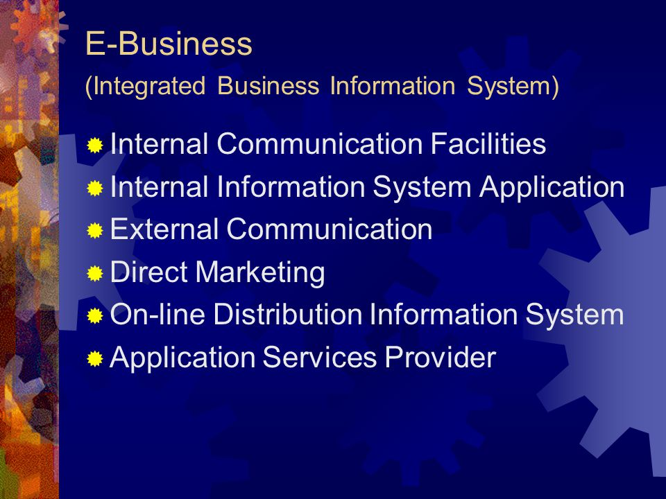 E-Business (Integrated Business Information System)
