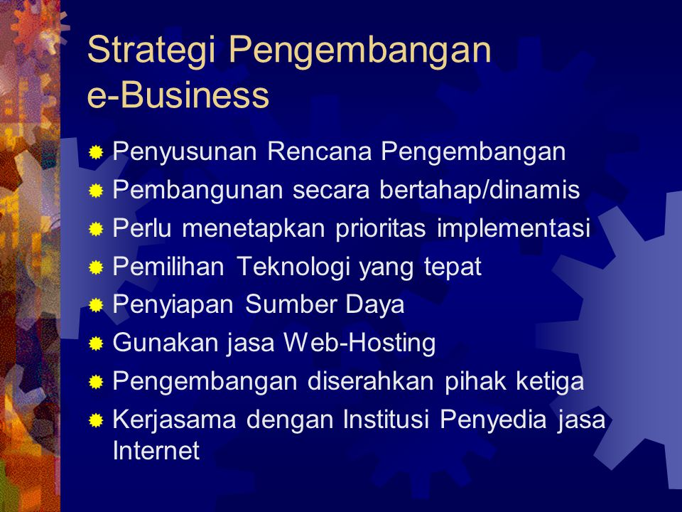 Strategi Pengembangan e-Business