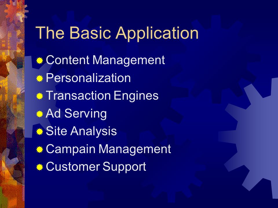 The Basic Application Content Management Personalization