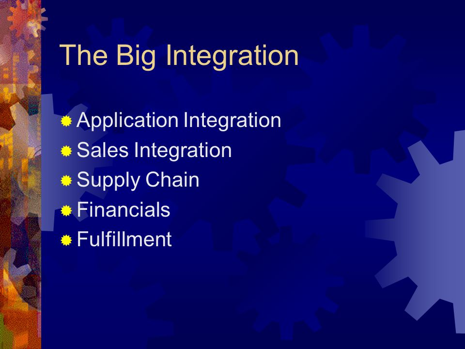 The Big Integration Application Integration Sales Integration