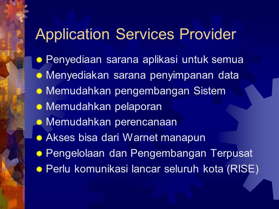Application Services Provider