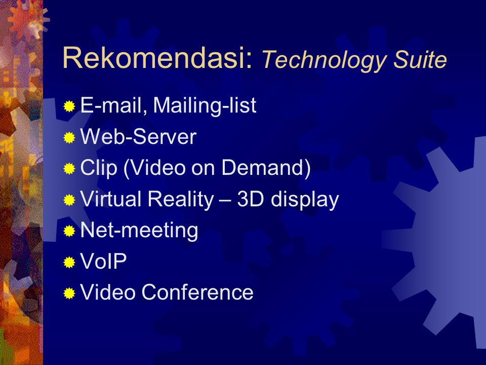 Rekomendasi: Technology Suite