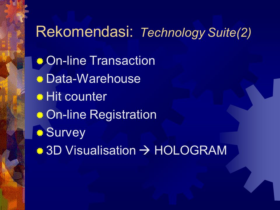 Rekomendasi: Technology Suite(2)