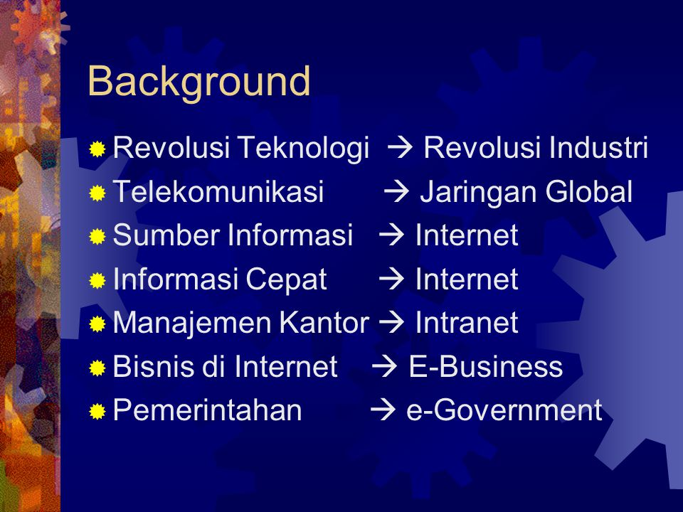 Background Revolusi Teknologi  Revolusi Industri
