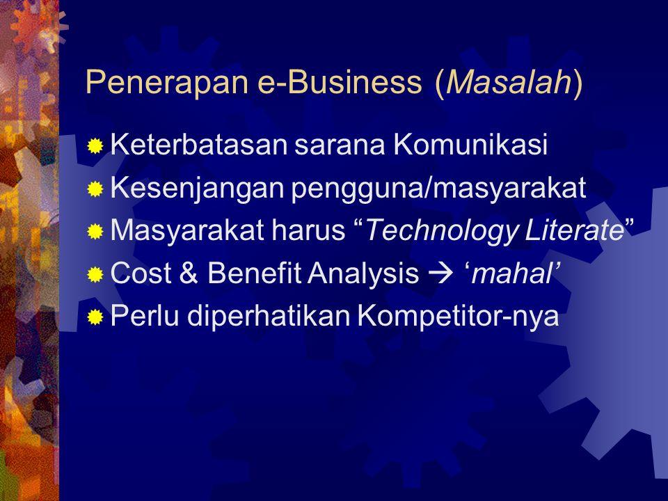 Penerapan e-Business (Masalah)