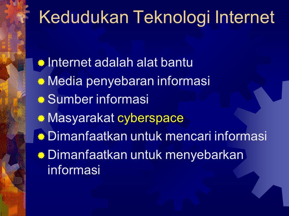 Kedudukan Teknologi Internet