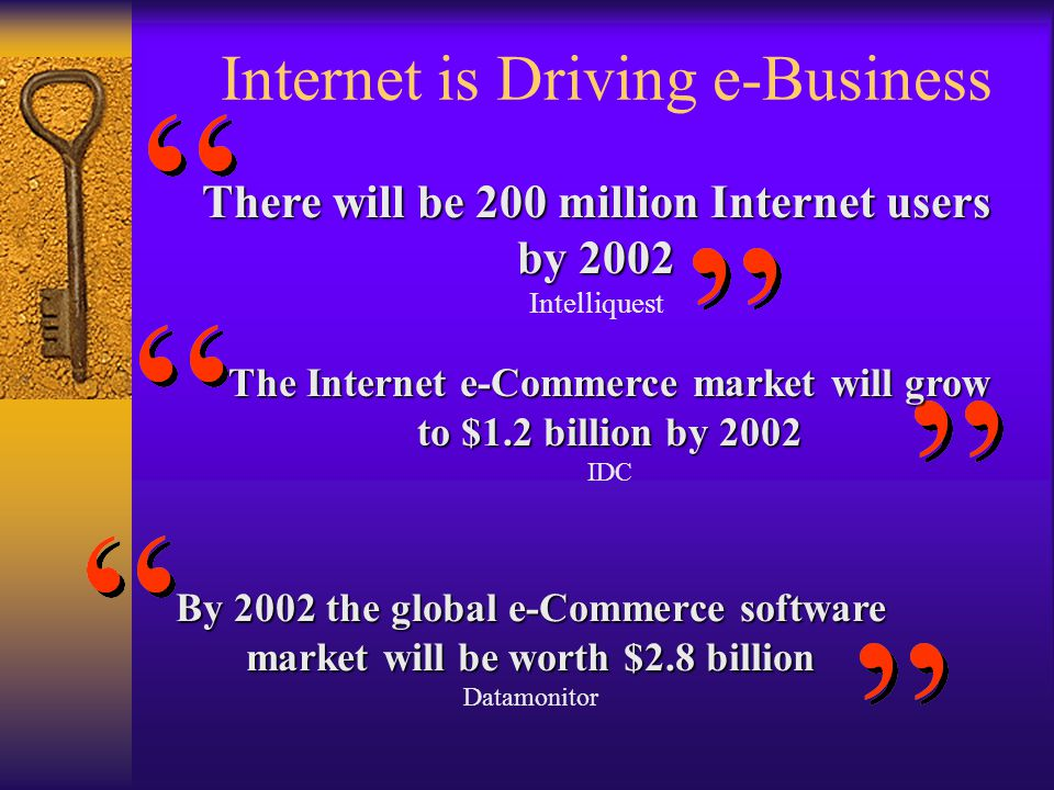 Internet is Driving e-Business