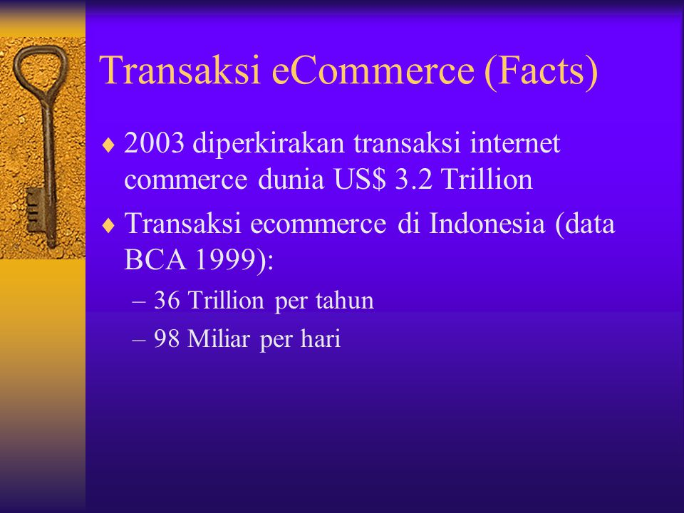 Transaksi eCommerce (Facts)