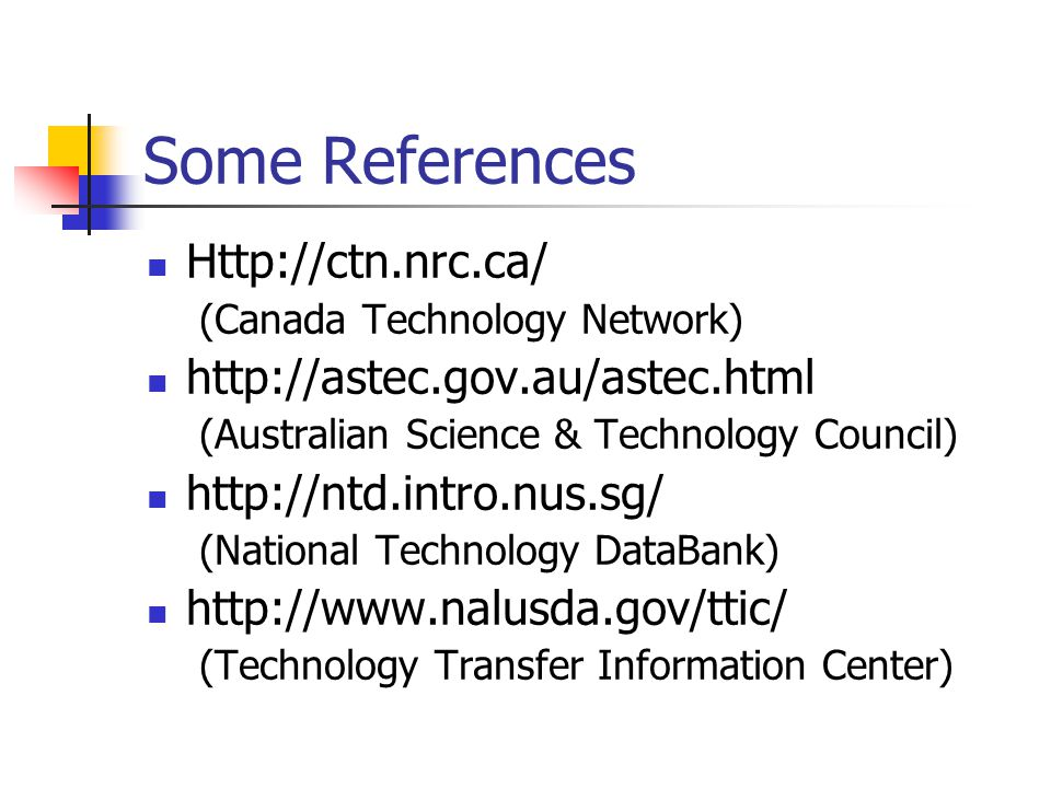 Some References Http://ctn.nrc.ca/ http://astec.gov.au/astec.html