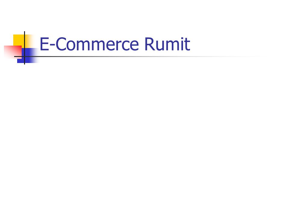 E-Commerce Rumit