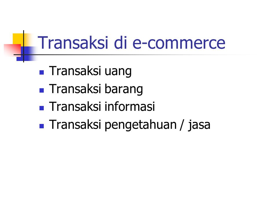 Transaksi di e-commerce