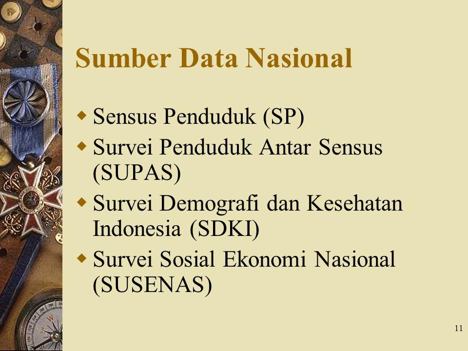 Sumber Data Nasional Sensus Penduduk (SP)