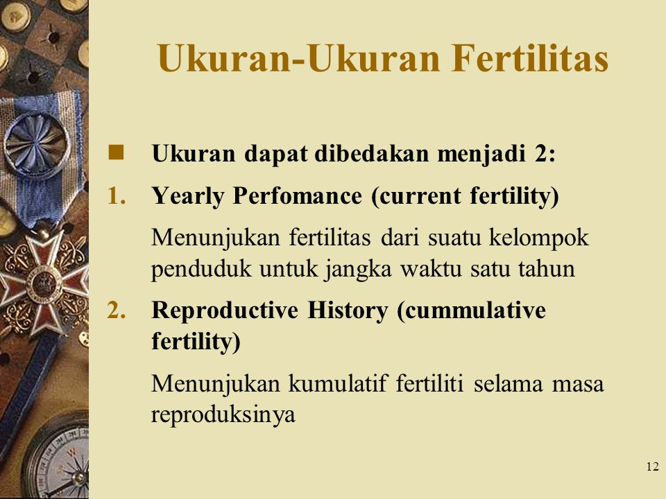 Ukuran-Ukuran Fertilitas