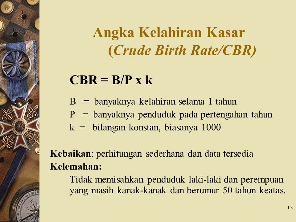 Angka Kelahiran Kasar (Crude Birth Rate/CBR)