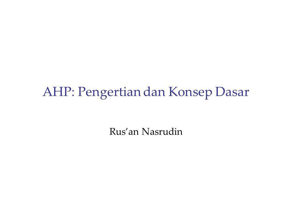 AHP: Pengertian dan Konsep Dasar