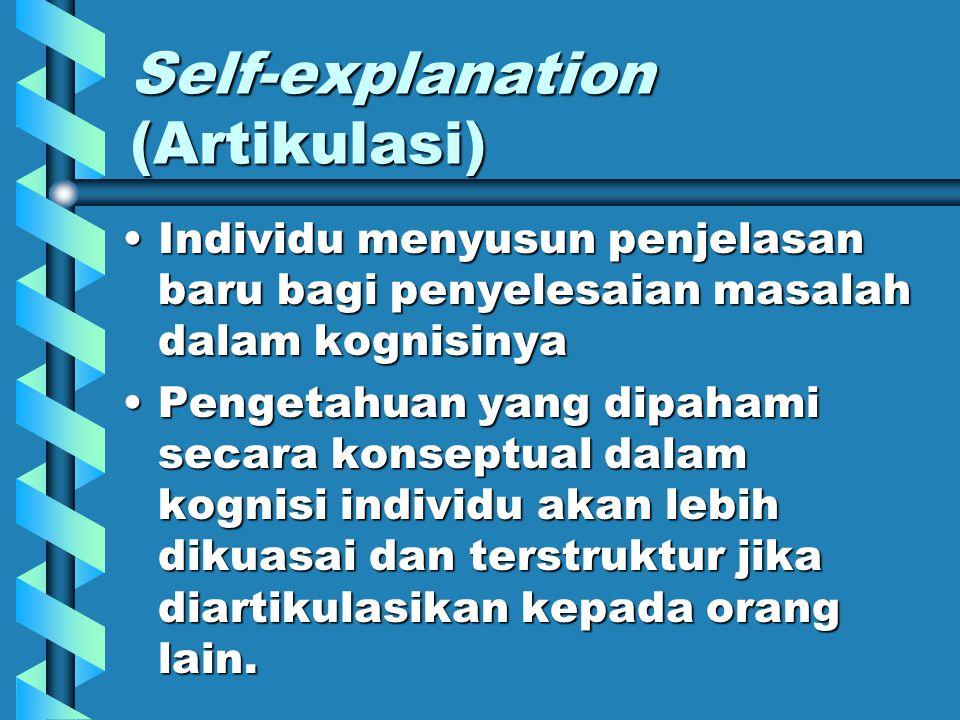 Self-explanation (Artikulasi)